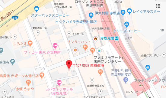 赤坂Luther Map